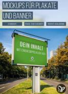 download PSD Tutorials Mockups fuer Plakate und Banner