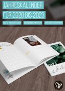 download PSD Tutorials Jahreskalender fuer 2019 bis 2023