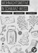 download PSD Tutorials Weihnachtsmotive in Schwarz Weiss