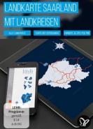 download PSD Tutorials Landkarte Saarland mit Landkreisen