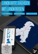 download PSD Tutorials Landkarte Sachsen mit Landkreisen